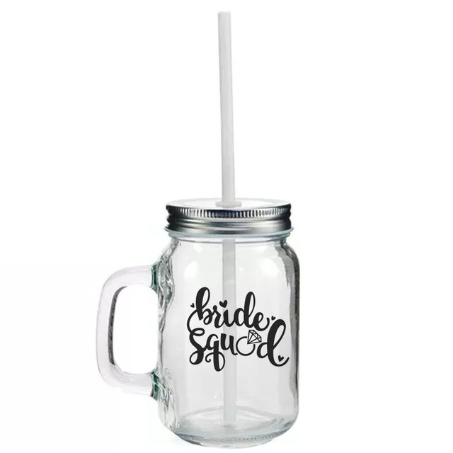 Mason Jar Bride Squad na internet