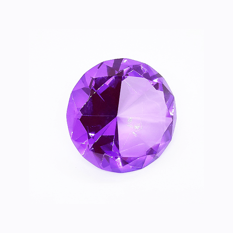 Diamante Decorativo Grande Roxo - Importado na internet