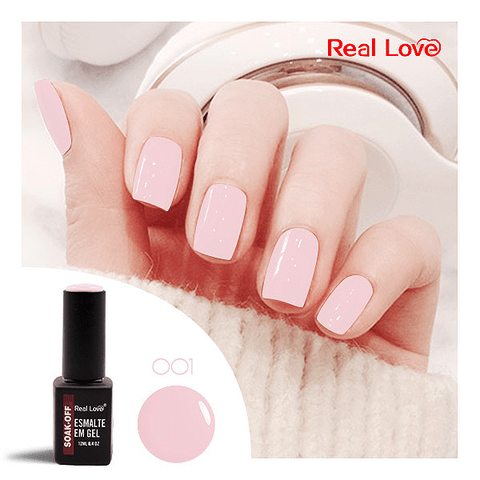 Esmalte Gel 12ml Cor 001 - Real Love