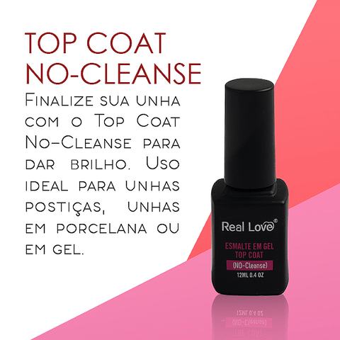 Top Coat No-Cleanse 12ml - Real Love - comprar online