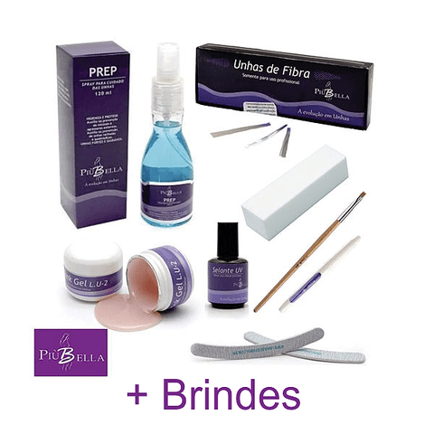 Kit Unhas de Fibra Light - Più Bella