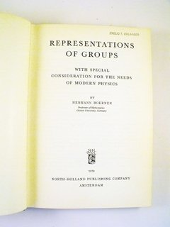 Hermann Boerner Representation Of Groups For Modern Physics - comprar online