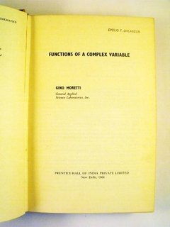 Gino Moretti Functions Of A Complex Variable Prentice-hall - comprar online