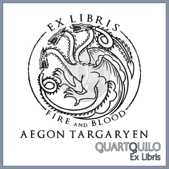 Ex libris Fire and blood