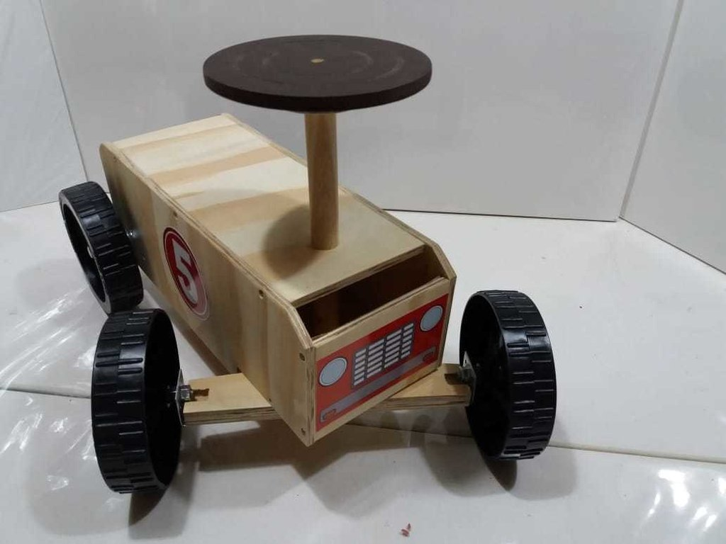 CAMION DE MADERA - WOODYMOTO RACER RED