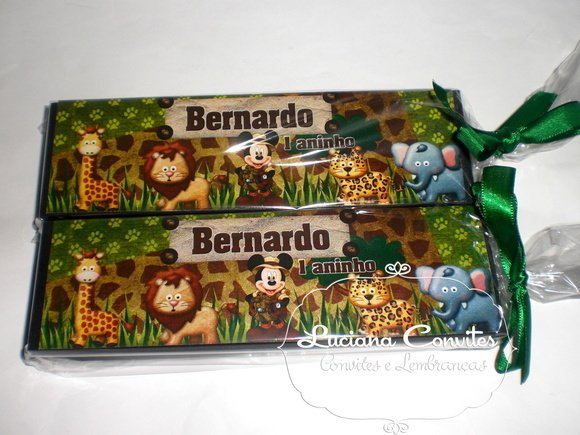 Dominó personalizado Mickey Safari