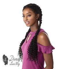 Lace Front Trança Box Braided (encomenda) - IC Divas Lace Wig