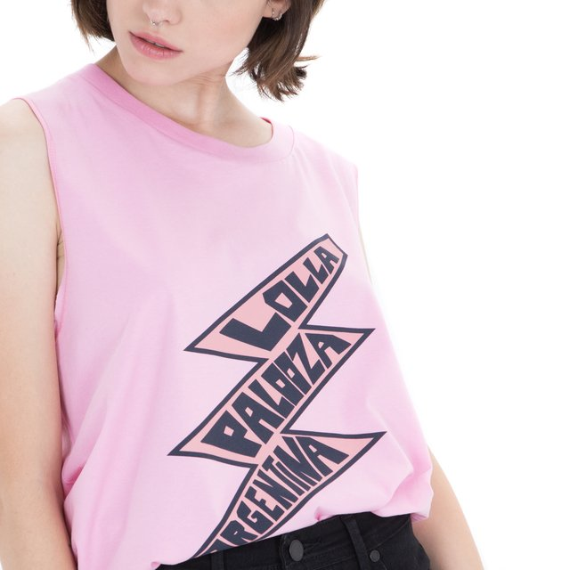 2018 MUSCULOSA MUJER LOLLA THUNDER ROSA
