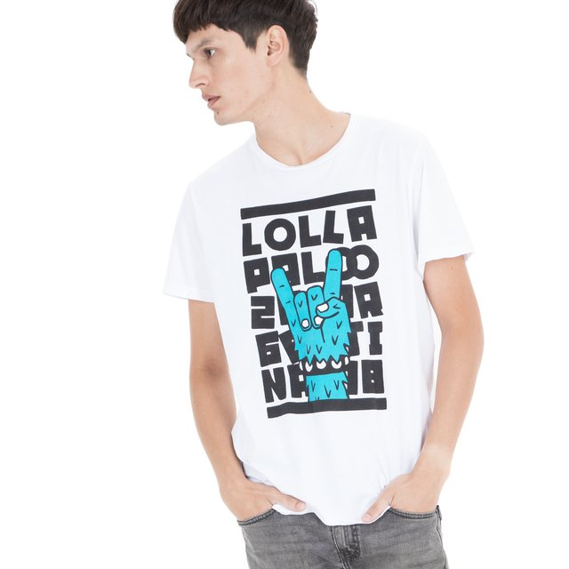 2018 REMERA H REGULAR LOLLA ROCK BLANCO - comprar online