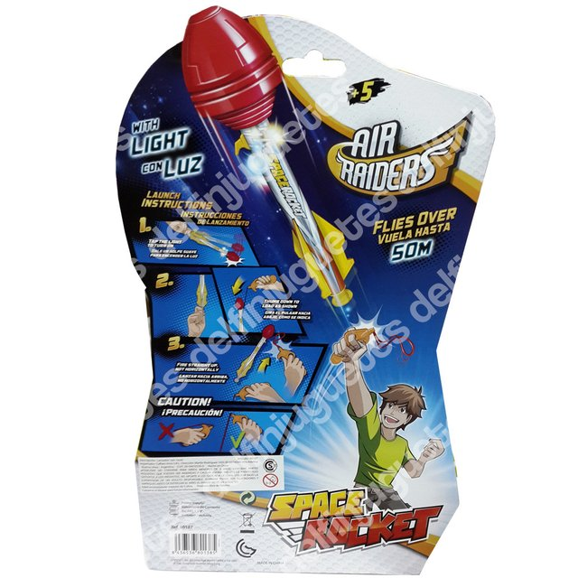 Air Raiders Space Rocket Cohete Vuela Hasta 50 Metros - comprar online