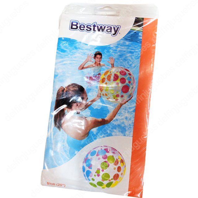 Bestway Pelota Fashion Inflable Lunares Pileta Playa 31013