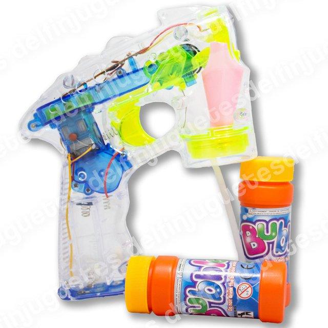 Pilas Burbujero Pistola Máquina Burbujas Constante Juguete 5AjRL4