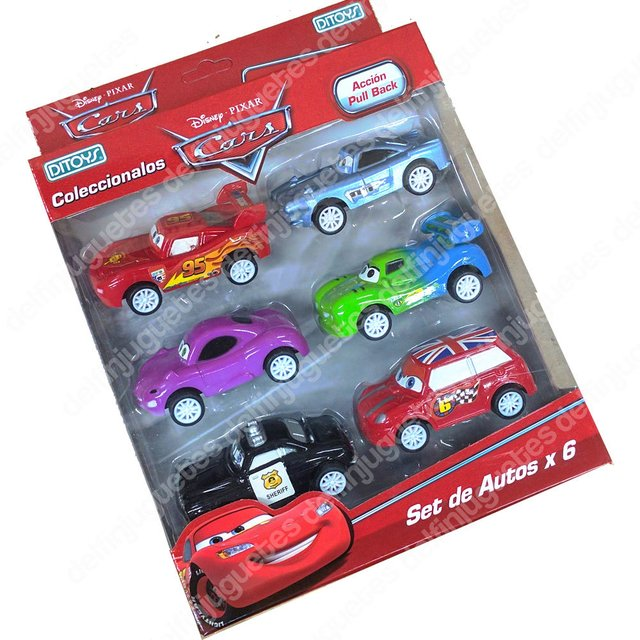 Cars Set X 6 Rayo Mc Queen  5 Autos Original Disney Ditoy's - comprar online