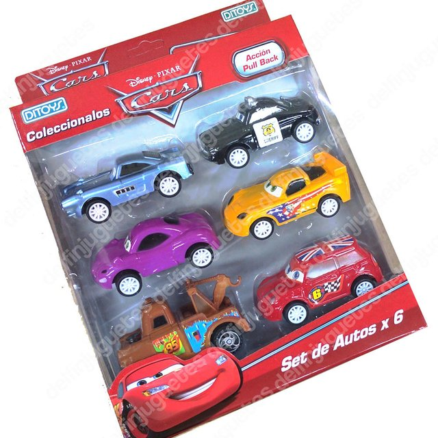 Cars Set X 6 Rayo Mc Queen  5 Autos Original Disney Ditoy's