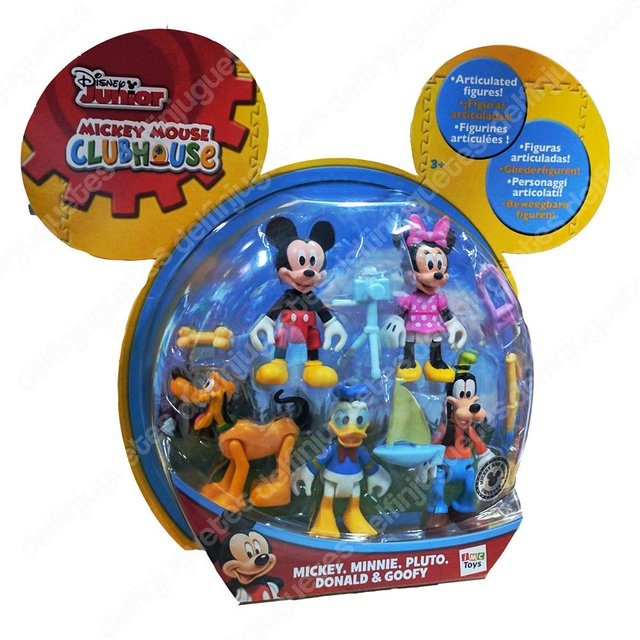 Disney Mickey Mouse Clubhouse Set Minnie Mickey Donald Goofy
