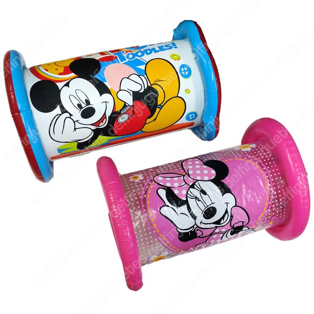 Disney Minnie Mouse Toodles Cilindro Inflable Cascabel Bebés