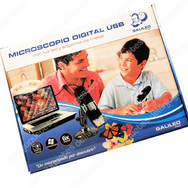 Galileo Microscopio Digital Pc Usb Con Luz Led Soporte Metal - comprar online