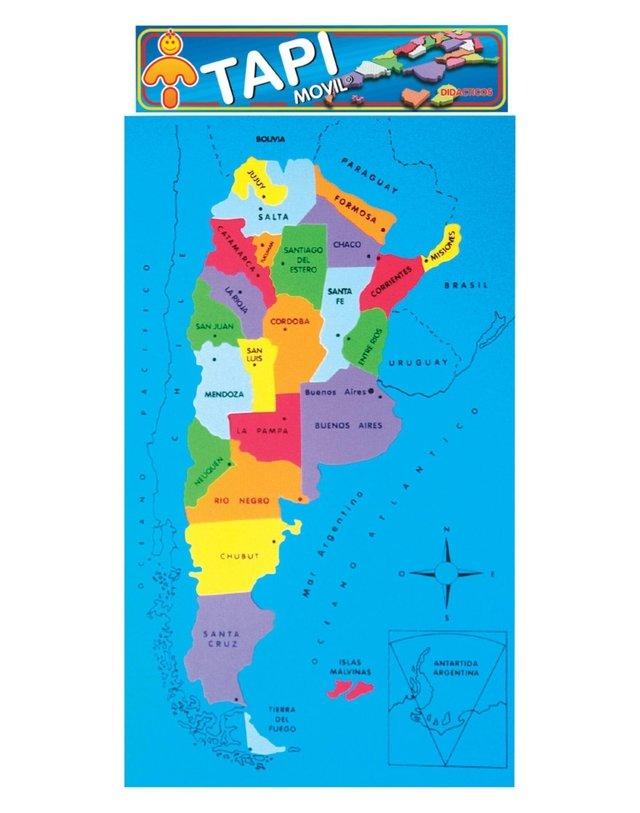 Rompecabezas Puzzle Goma Eva Puzzle República Argentina