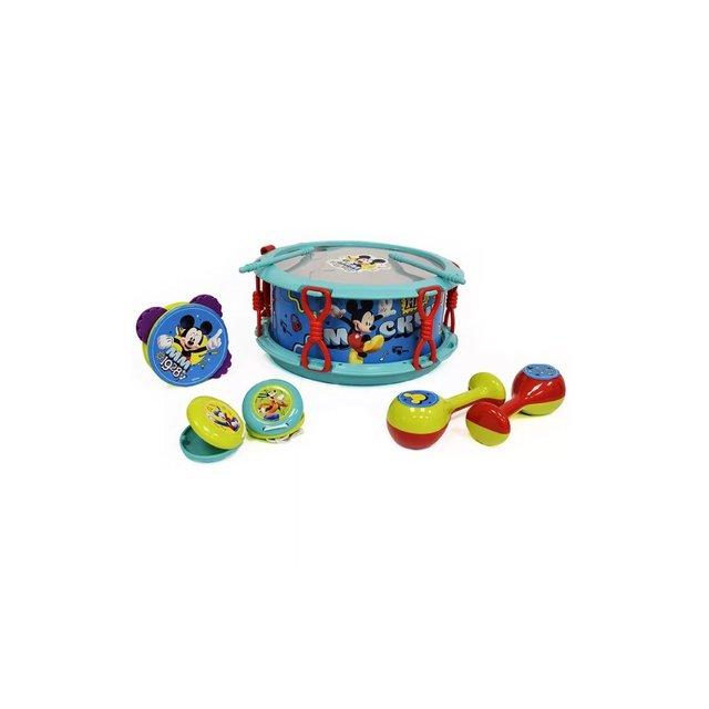 TamborCastañuelas Pandereta Instrumentos Mickey Set Maracas Disney Mouse n0kNwPX8O