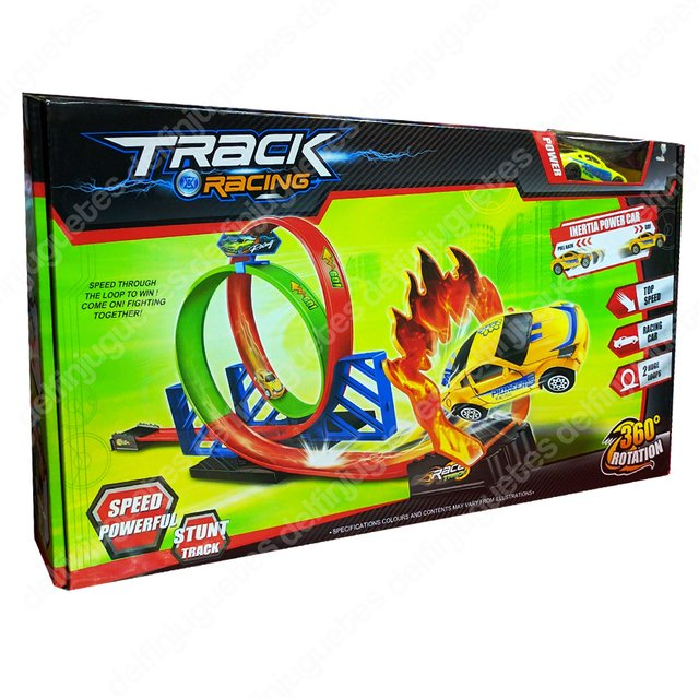 Pista De Autos Track Racing Con 2 Loop 360 Grados