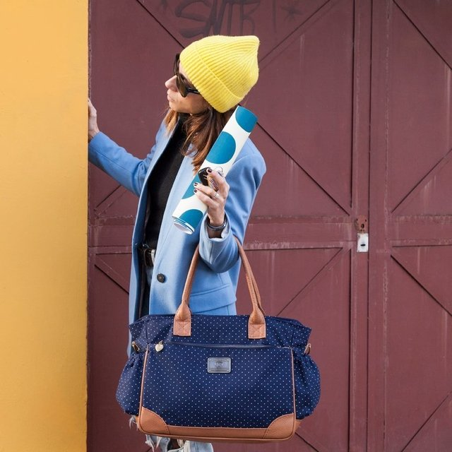Bolso Cata Azul Pintitas - Happy Little Moments