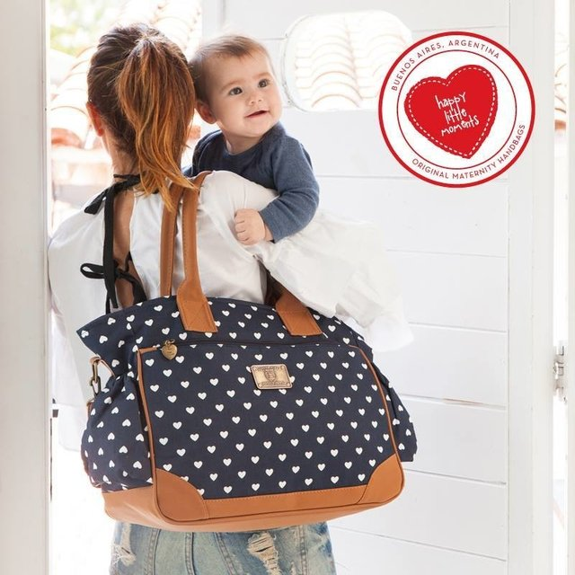 Bolso Cata Corazones Azul - Happy Little Moments