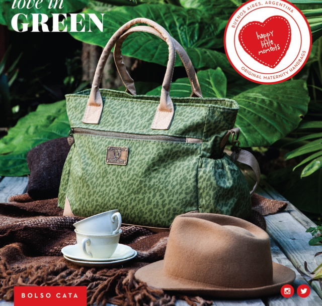 Bolso Cata Camuflado Verde - Happy Little Moments