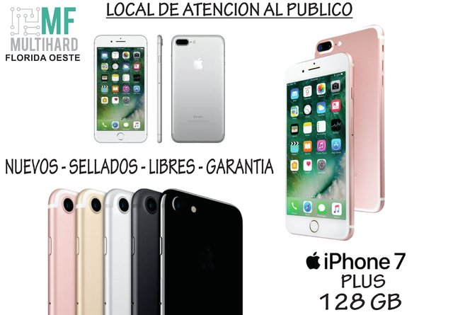 Apple Iphone 7 Plus 128gb 12mp 5.5 Nuevos - Sellados - Gtia - comprar online