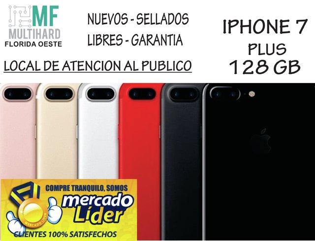 Apple Iphone 7 Plus 128gb 12mp 5.5 Nuevos - Sellados - Gtia - mfmultihard