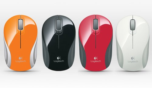 MOUSE INALAMBRICO LOGITECH M187 COLORES VARIOS WIRELESS MINI MOUSE