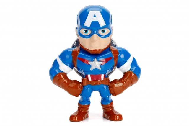 Figura Cap America Marvel Metal Die Cast 10cm Original Usa en internet