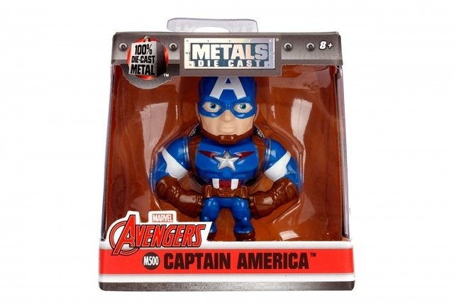 Figura Cap America Marvel Metal Die Cast 10cm Original Usa