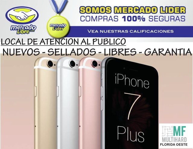 Apple Iphone 7 Plus 128gb 12mp 5.5 Nuevos - Sellados - Gtia
