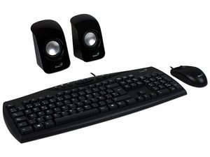 Kit Genius Teclado + Mouse + Parlantes Usb Kms U115 en internet