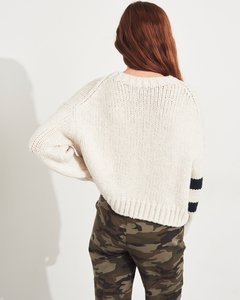 Sweater blanco HOLLISTER oversize en internet