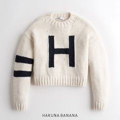 Sweater blanco HOLLISTER oversize