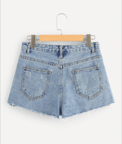 Denim short GRAFFITY tiro alto - comprar online