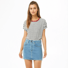 Pollera Denim basic de Forever21 en internet