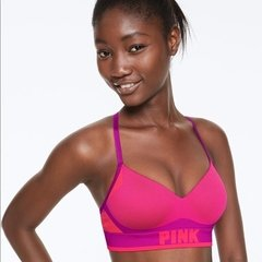 Corpiño PINK sin costura push up Berry