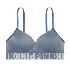 Corpiño PINK denim sin costura push up