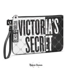 Clutch black & white ecocuero VICTORIA´S SECRET - comprar online