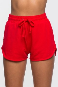 Short rojo TERRY tiro alto retro style en internet