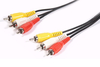 Cable 3 Rca Macho - 3 Rca Macho Audio Y Video 3 Mts