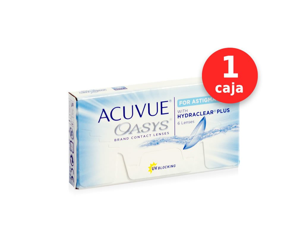 54705fe94f001 Acuvue Oasys para Astigmatismo x 1 caja (x 6 lentes)