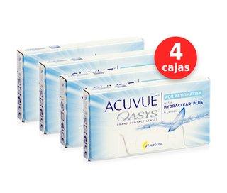 e0660bde33477 Acuvue Oasys para Astigmatismo x 4 cajas (x 24 lentes)