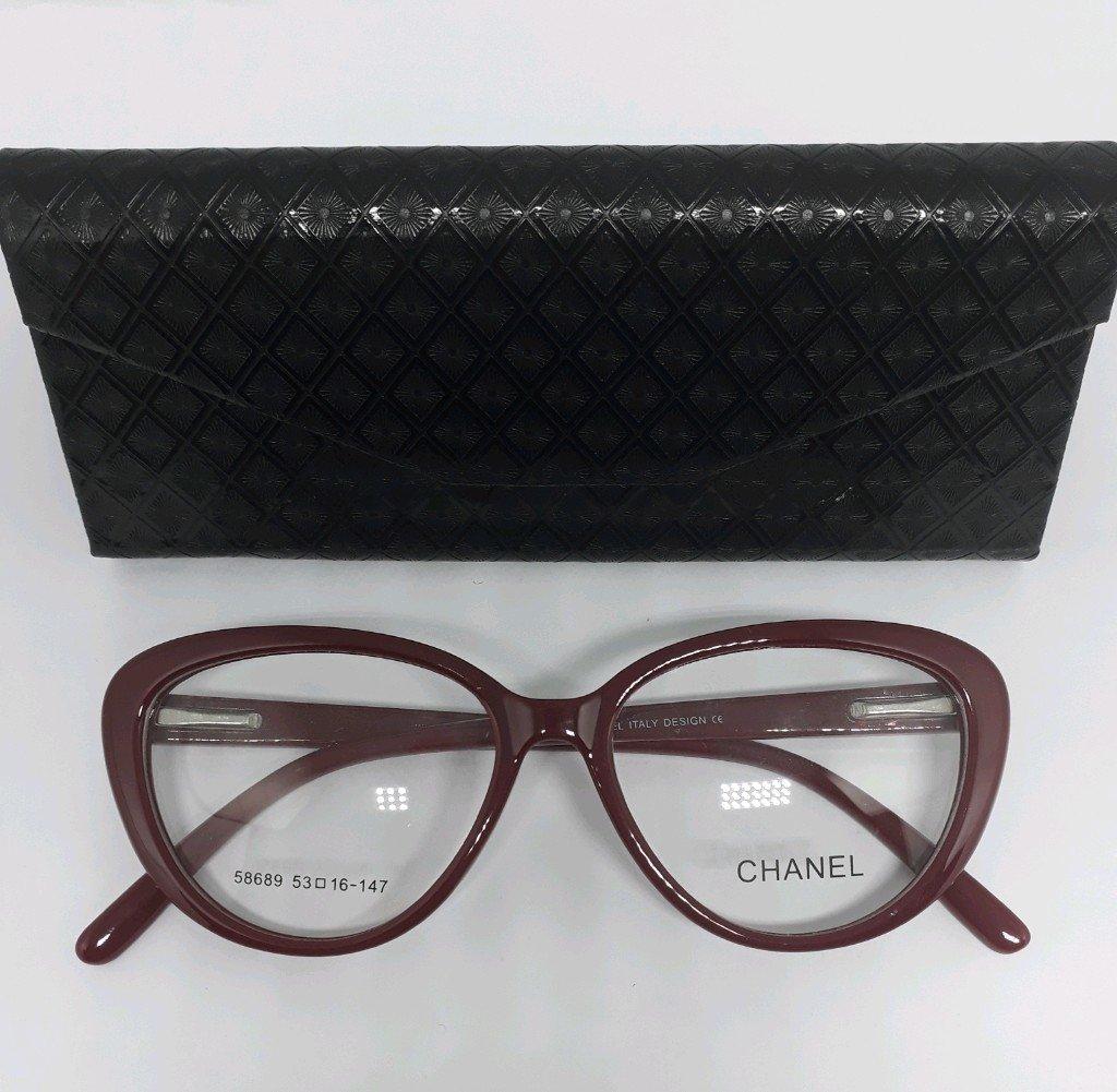 e5617a915 Armação de Óculos para Grau Gatinho Vinho Chanel