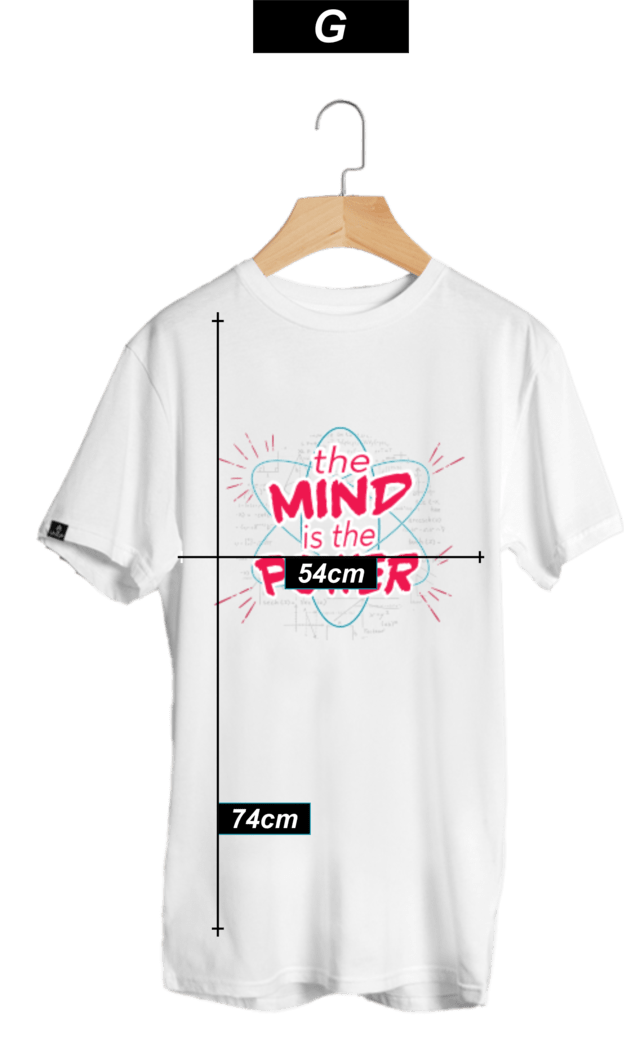CAMISETA THE MIND BRANCA - LUBATV - LUBATV