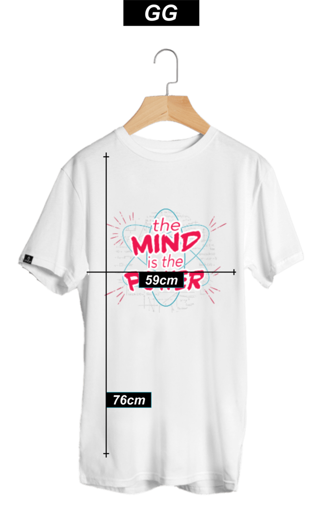 CAMISETA THE MIND BRANCA - LUBATV - loja online