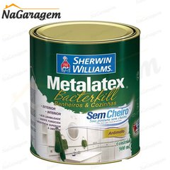 Metalatex Bacterkill Acetinado Branco 1/4 900ml - Sherwin Williams