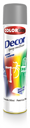 -> Colorgin Spray Decor Cinza 8651 250g